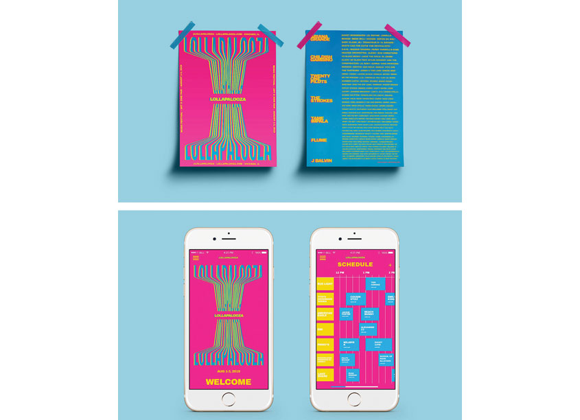 Lollapalooza by Shillington School of Graphic Design