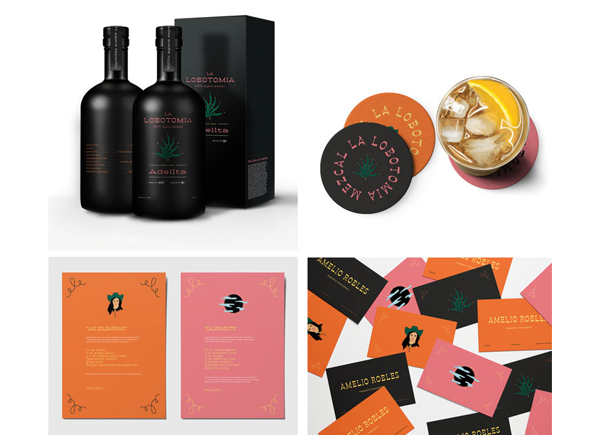 Shillington School of Graphic Design La Lobotomia Mezcal Packaging