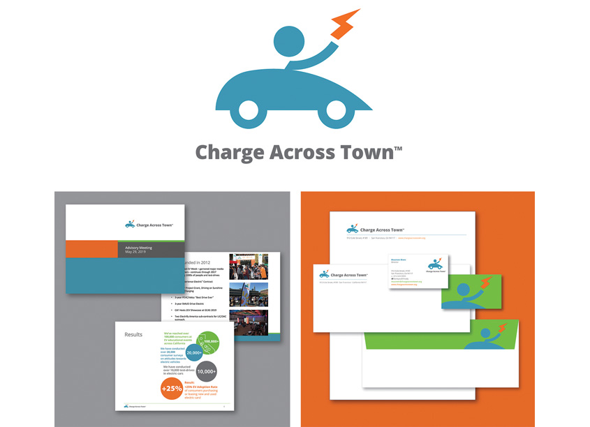 Charge Across Town Brand Identity Redesign by Benitez Design