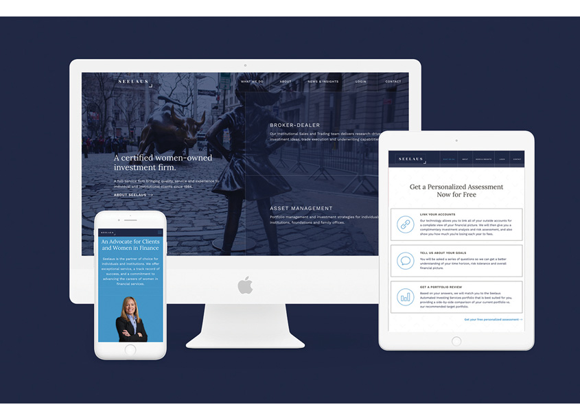 Prosek Partners Website Design