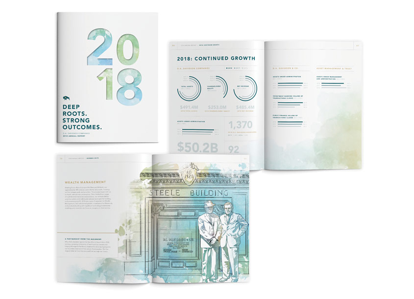 Prosek Partners 2018 Annual Report Design
