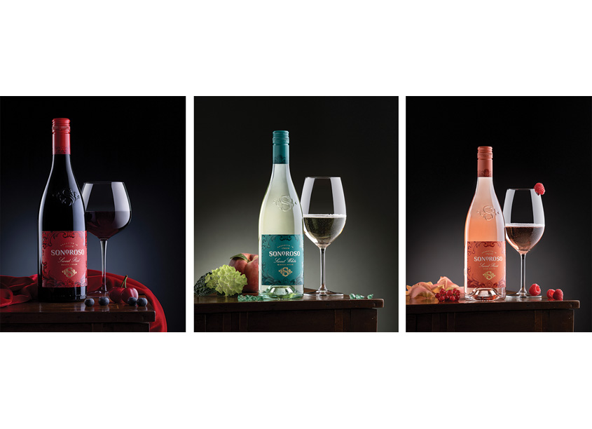 Sonoroso Sweet Wine Packaging by Affinity Creative Group