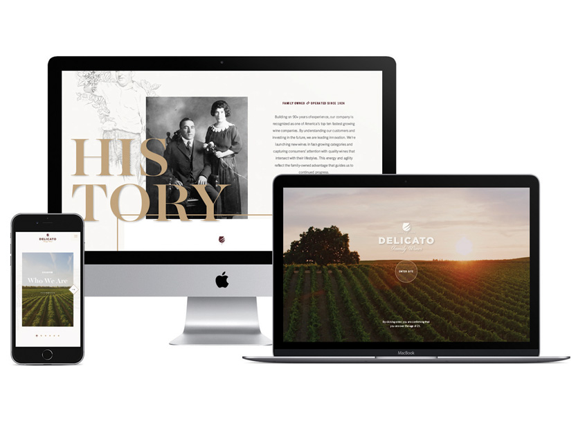 Affinity Creative Group Delicato Family Wines Website
