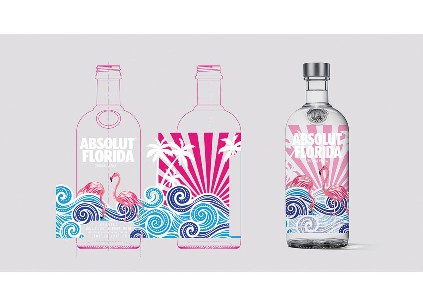Shiraz Creative Absolut Florida Bottle