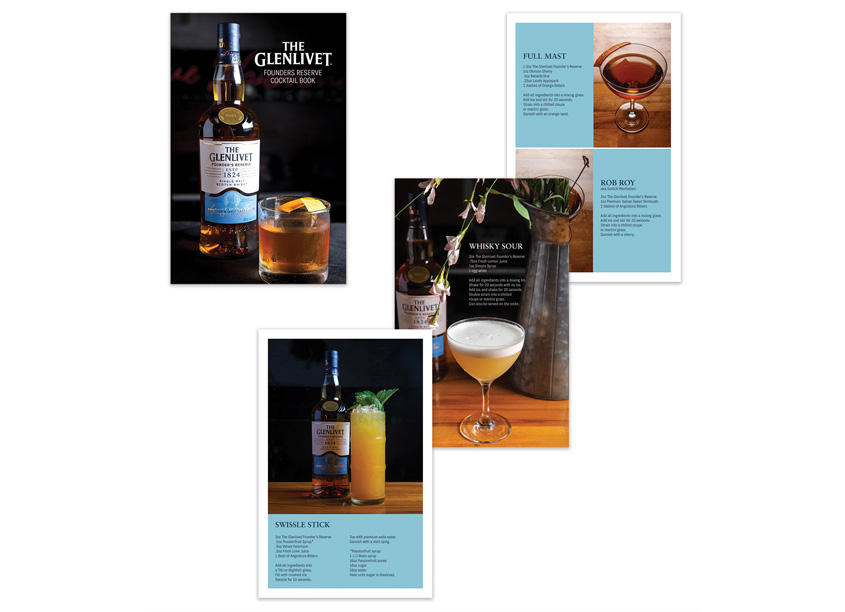 Shiraz Creative The Glenlivet Cocktail Book VP/Creative Director: Justin Bell