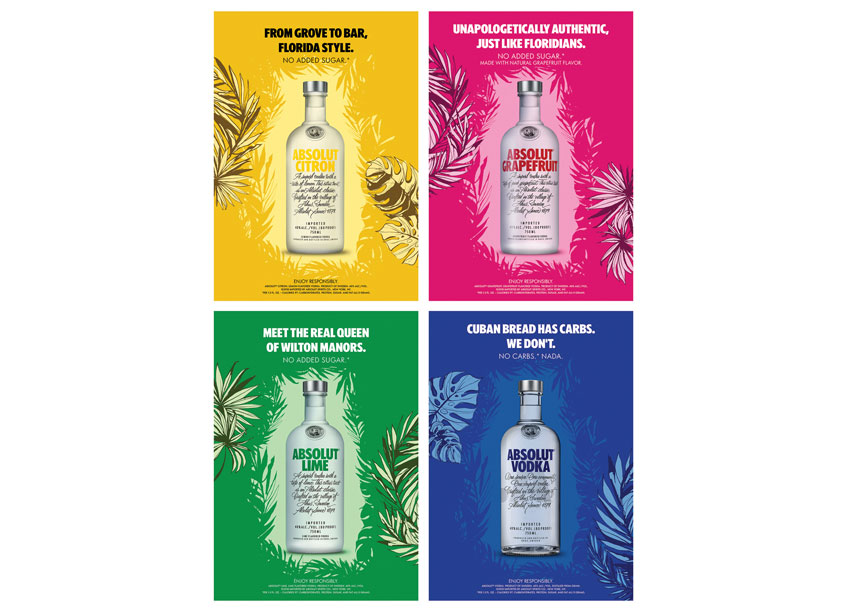 Shiraz Creative Absolut Midtown Takeover Posters