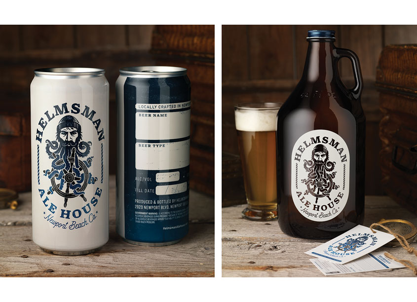 Helmsman Ale House Package Design by CF Napa Brand Design
