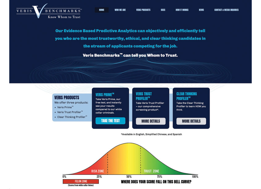 Ruzow Graphics Veris Benchmarks Website