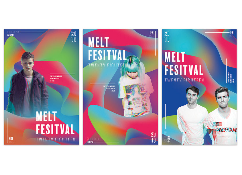 Utah Valley University Melt Festival Posters Series