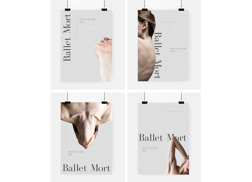 Utah Valley University Ballet Mort Event Posters
