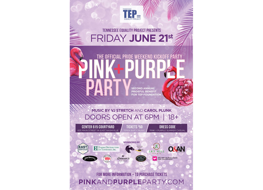 TEP Pink + Purple Party Poster by Donna Huff Design