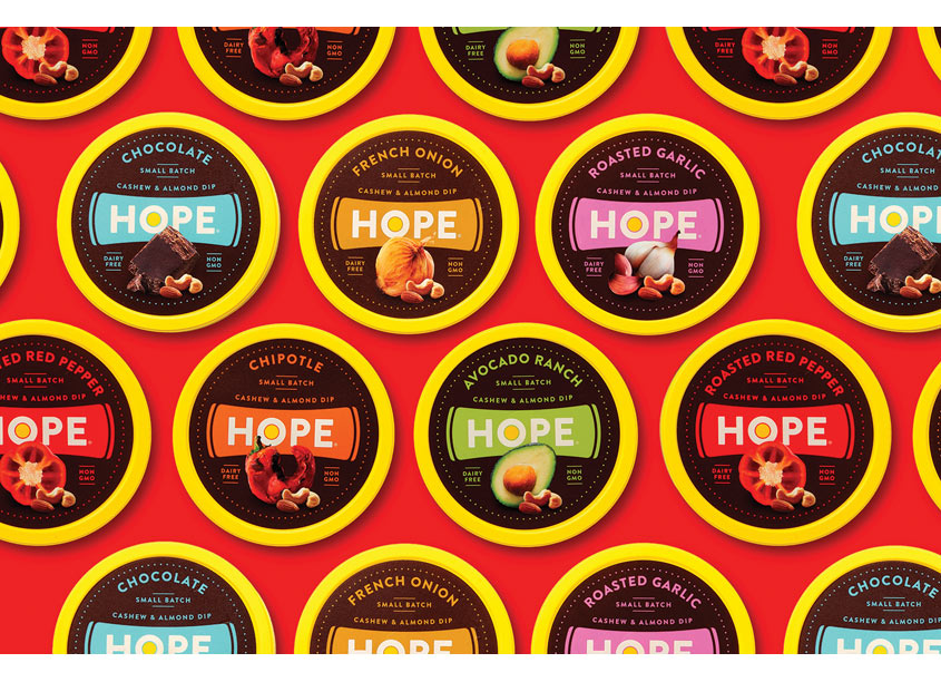 Hope Nut Dip Packaging by Ellen Bruss Design