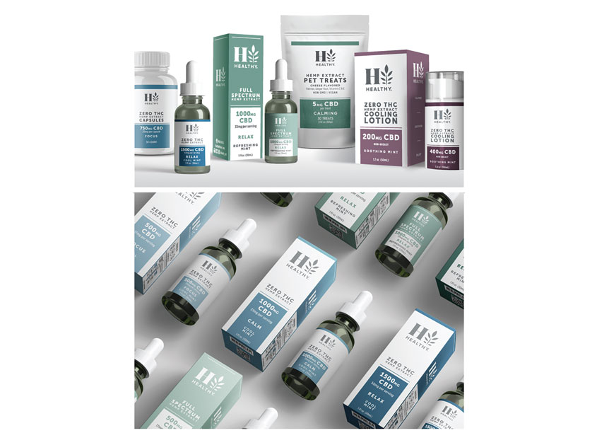 HealthyT CBD Brand Packaging by FAI Design Group