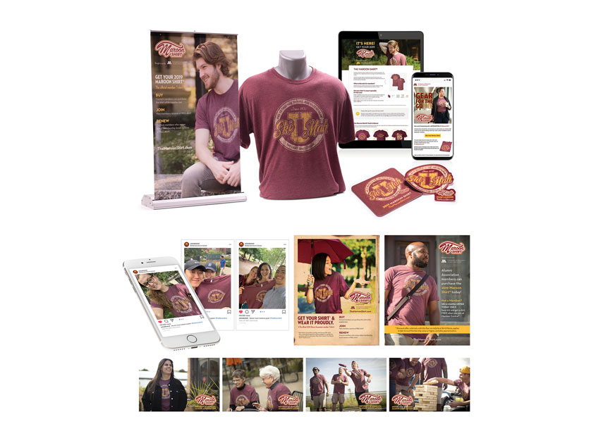 2019 Maroon Shirt Marketing Campaign by University of Minnesota Alumni Association