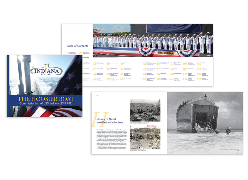 IBJ Custom Publishing USS Indiana - The Hoosier Boat - Book Design