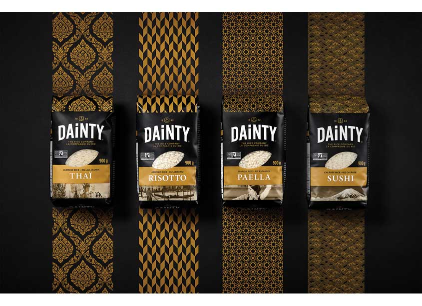 Dainty Rice Premium Packaging by Pigeon Brands