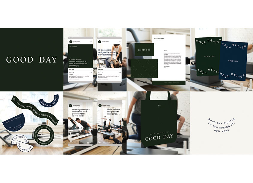 Good Day Pilates Branding by Jimmy Can Do