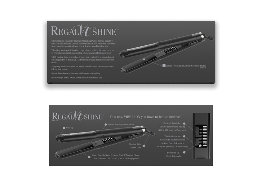RegalVTShine Flat Iron Branding and Packaging by Big Max's Studio
