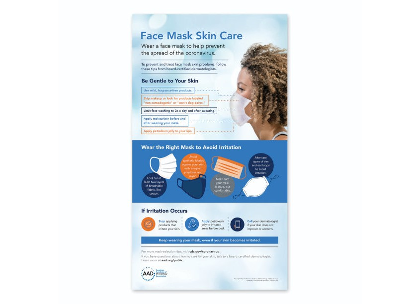 Face Mask Skin Care Infographic by American Academy of Dermatology (AAD)