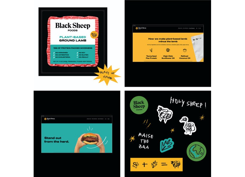Marine Lane Black Sheep Foods Branding
