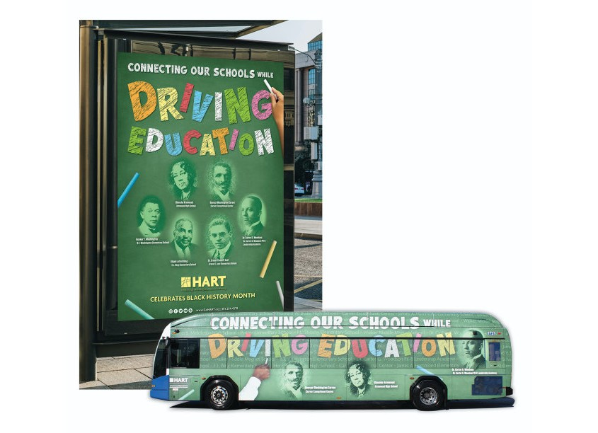 HART Black History Month - Driving Education Vehicle Wrap by Hillsborough Area Regional Transit Authority (HART)