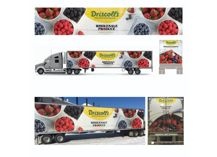 Driscoll's Truck Graphic by Design Partners