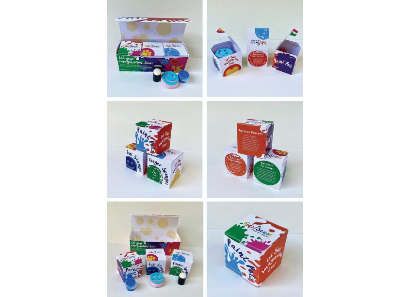 Kennesaw State University, School of Art and Design, Graphic Communications Kids Sense Imagination Paint Set