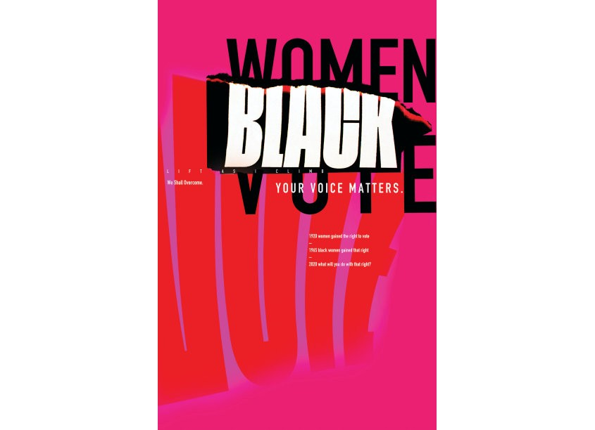 Reneé Seward Black Women's Votes Matter Poster