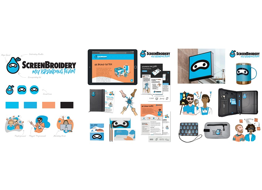 ScreenBroidery | My Branding Team ScreenBroidery Identity System