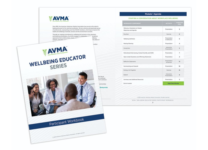 American Veterinary Medical Association (AVMA) AVMA Wellbeing Educator Series - Participant Workbook