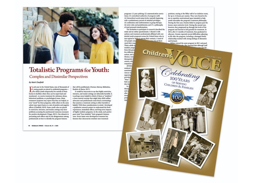 Children's Voice Magazine, Volume 29, #1 by Child Welfare League of America (CWLA)
