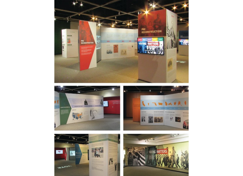 Voting Matters Exhibition Graphics by Charles H. Wright Museum of African American History