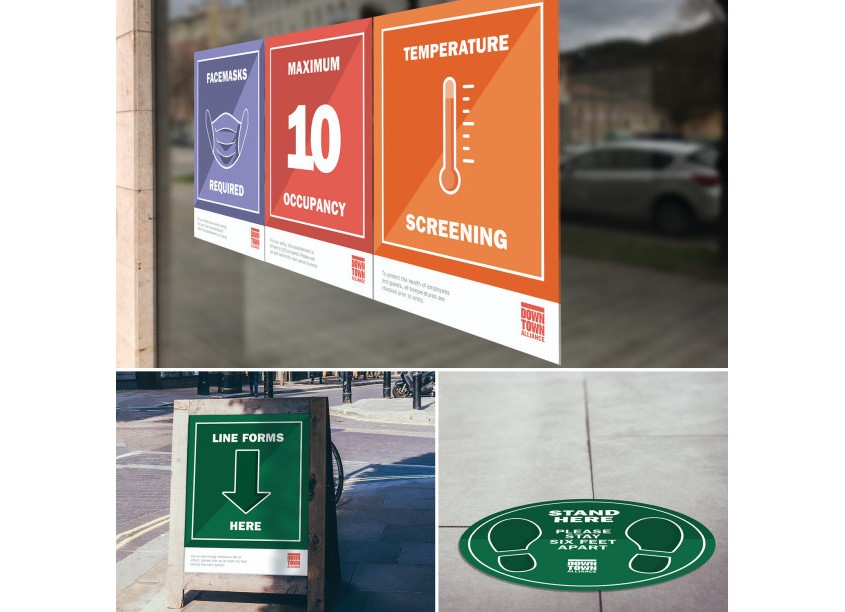 COVID-19 Signage Package by Streetsense