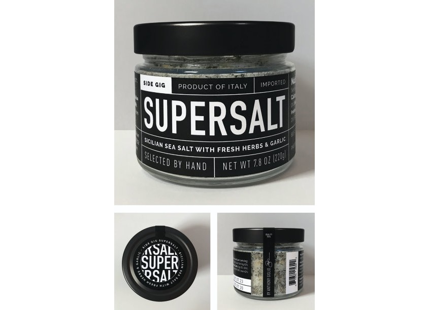 Side Gig SuperSalt Packaging by Level Group