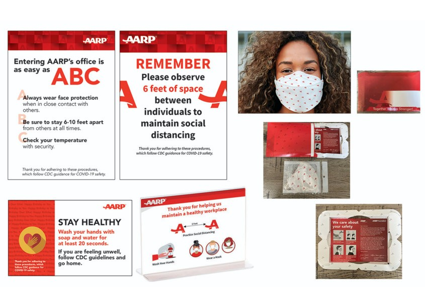 AARP Brand Creative Services AARP Office COVID Materials