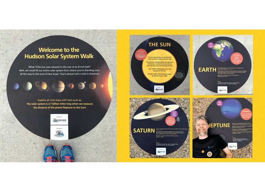 Hudson Solar System Sidewalk Graphics by Christiansen Creative