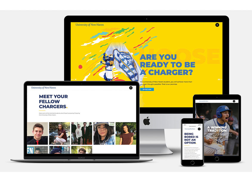 Website Design for 'Choose Success. Choose the University of New Haven.' by University of New Haven