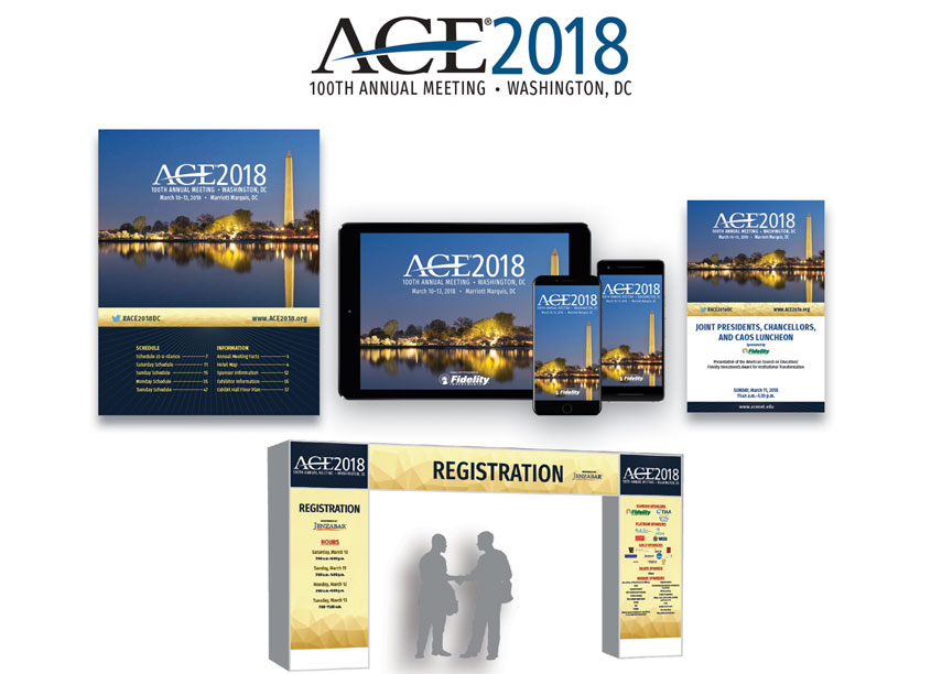 Branding of ACE2018 - 100th Annual Meeting by American Council on Education
