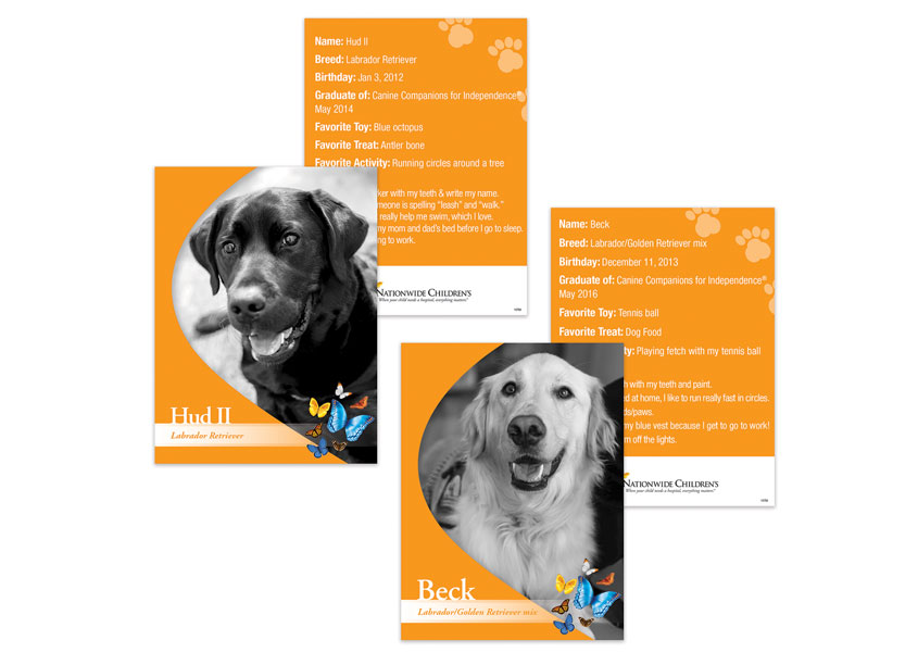 Nationwide Children's Hospital Rehabilitation Dog Promotion Posters