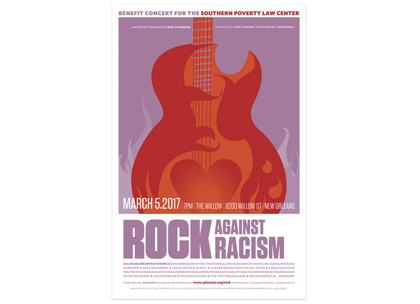 Southern Poverty Law Center Rock Against Racism Poster
