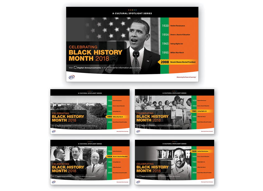ETS Creative Services Celebrating Black History Month Posters