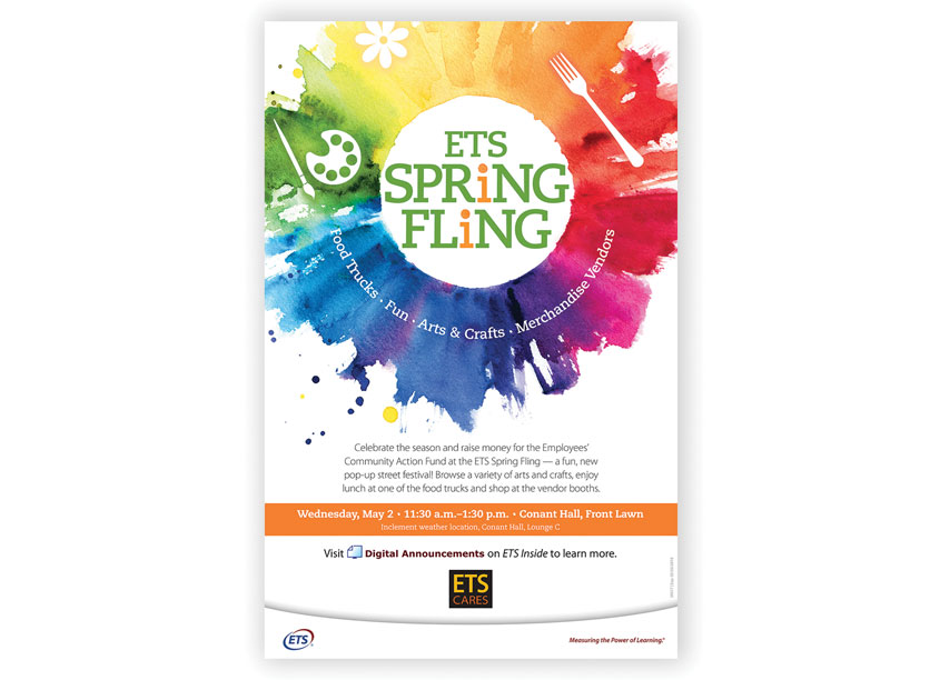 ETS Creative Services Spring Fling Poster