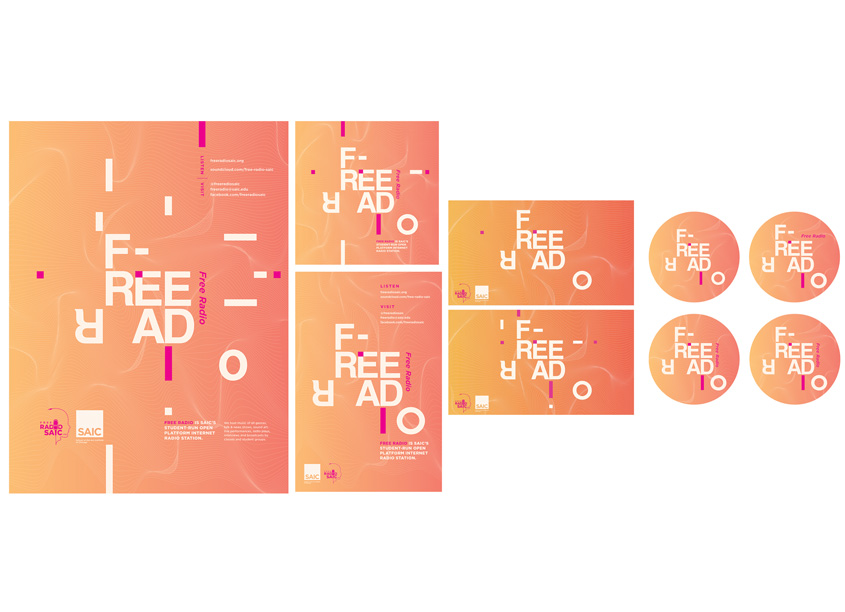 Free Radio Identity 2018 by School of the Art Institute Chicago (SAIC), IRFM Creative