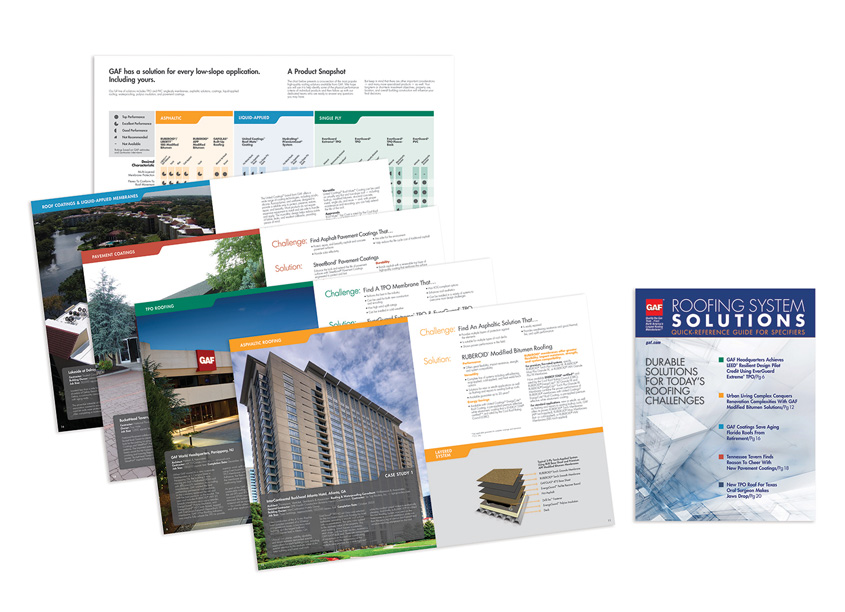 Quick Reference Guide for Specifiers Brochure by GAF Creative Design Services