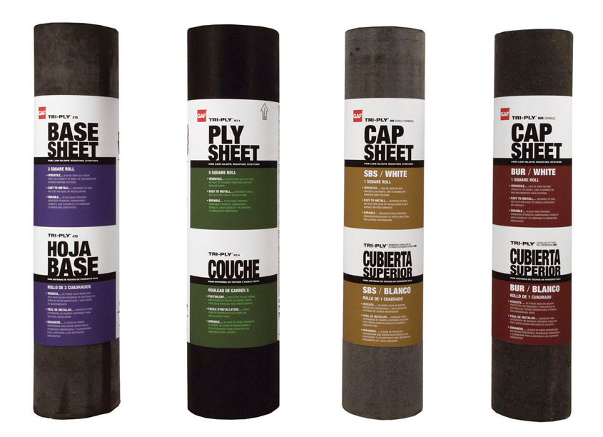 GAF Creative Design Services Tri-Ply Packaging Labels