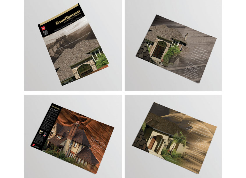 Grand Canyon Ultra-Premium Designer Shingle Brochure by GAF Creative Design Services