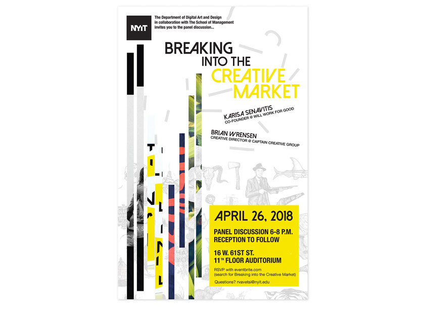 New York Institute of Technology (NYIT) Breaking Into the Creative Market Panel Discussion Poster