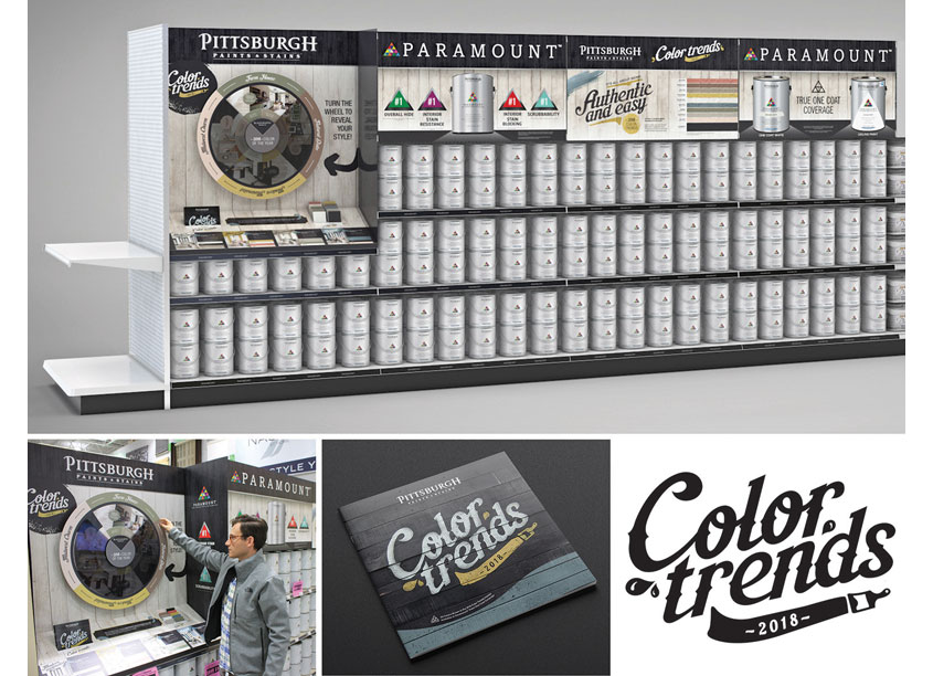 2018 Color Trends Power Aisle Graphics by PPG