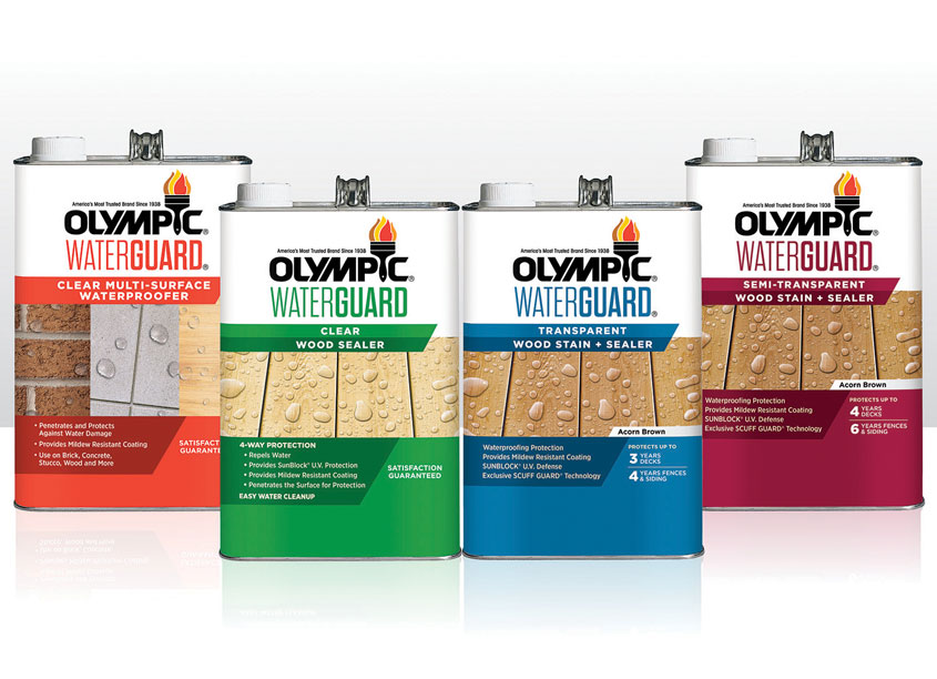 PPG Olympic WaterGuard Label Design
