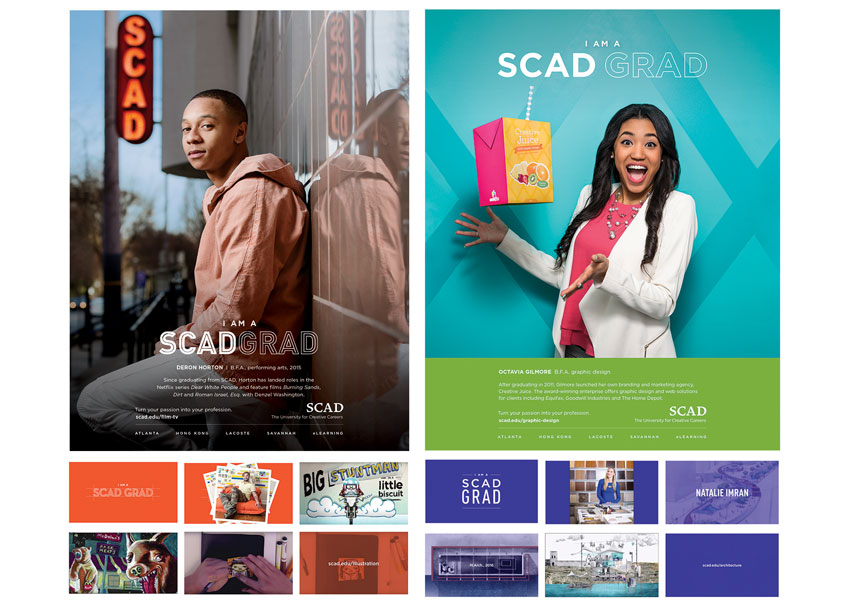 Savannah College of Art and Design (SCAD) I AM A SCAD GRAD Advertising Campaign